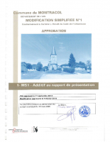 MS1 – ADDITIF AU RAPPORT DE PRESENTATION