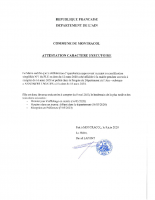 MS1 – ATTESTATION CARACTERE EXECUTOIRE