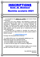 Informations 2021